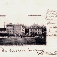 Marktbreit, Real-Handelsschule, Poststempel 1903