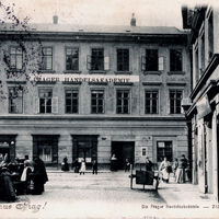 Prag, Handelsakademie, Poststempel 1900