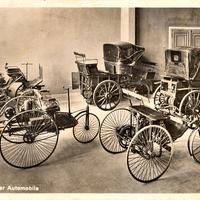 Auto -Entwicklung-der-Automobile -Postkarte-des-Deutschen-Museums