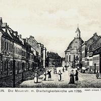 Berlin -Mauerstr -um-1780