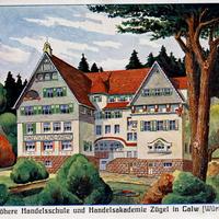 Calw Neue Höhere Handelsschule und Handelsakademie Zügel 1908